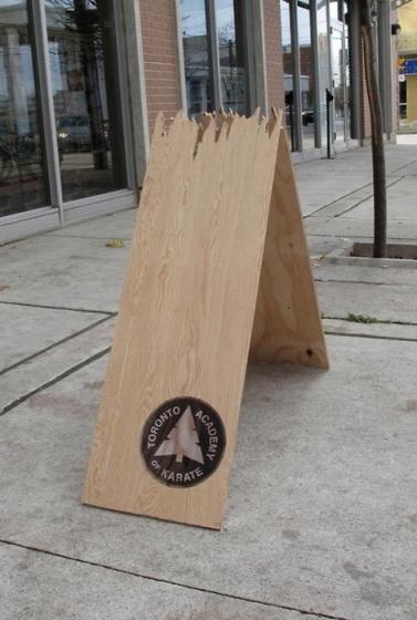 Kick-ass karate board