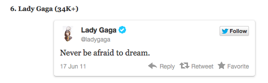 Lady Gaga Retweet
