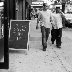 The humble Sandwich Board. A creative opportunity in a post-digitalage.