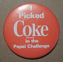 Coke Pepsi Challenge badge