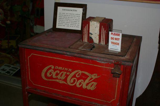 First Coca-Cola vending machine