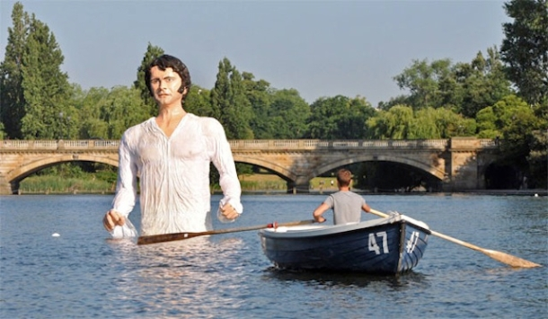 Mr Darcy model in the Serpentine