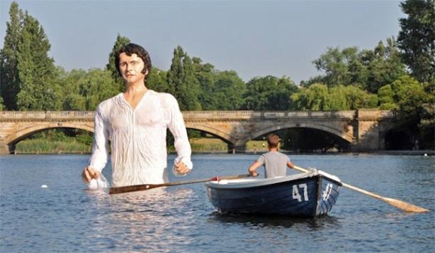 Mr Darcy model in the Serpentine