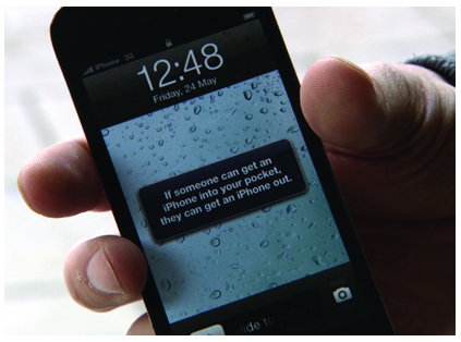 Printed Smart Phone with message.