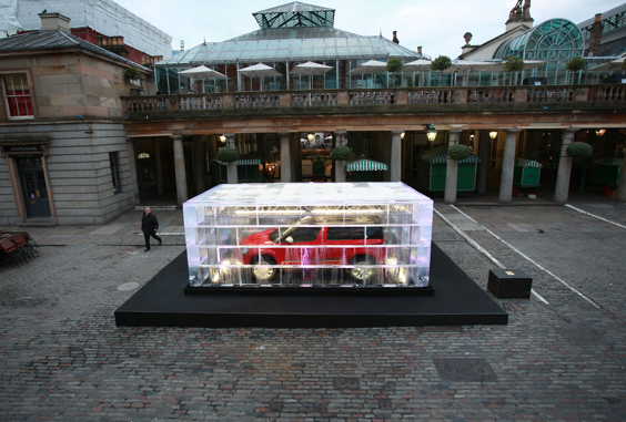 Car encased in ice, Covent Garden, London.