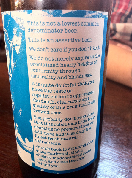 BrewDog Punk IPA - back of bottle